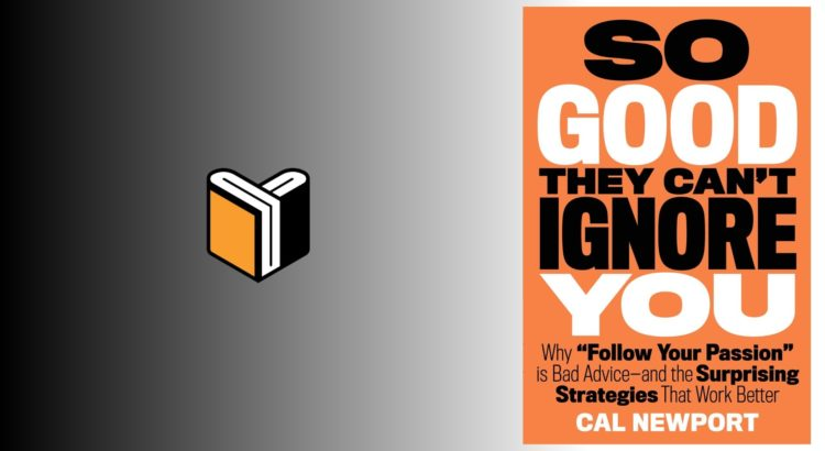 Zdjęcie książki So Good They Can't Ignore You - Cal Newport - zdjęcie okładki